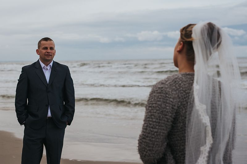 fotograf ślubny gdańsk sesja nad morzem