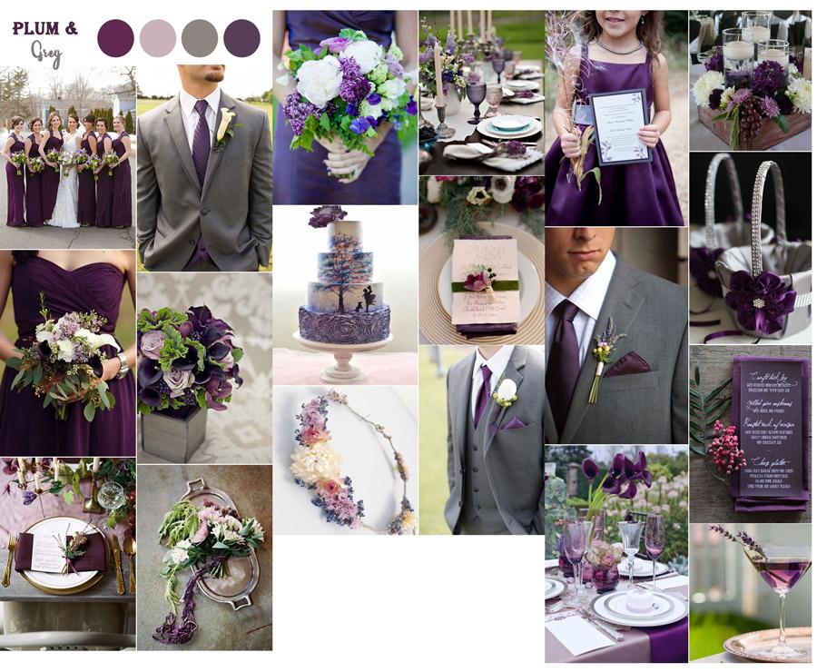 kolor przewodni wesela fiolet, pudrowy, róż, sliwka, motyw