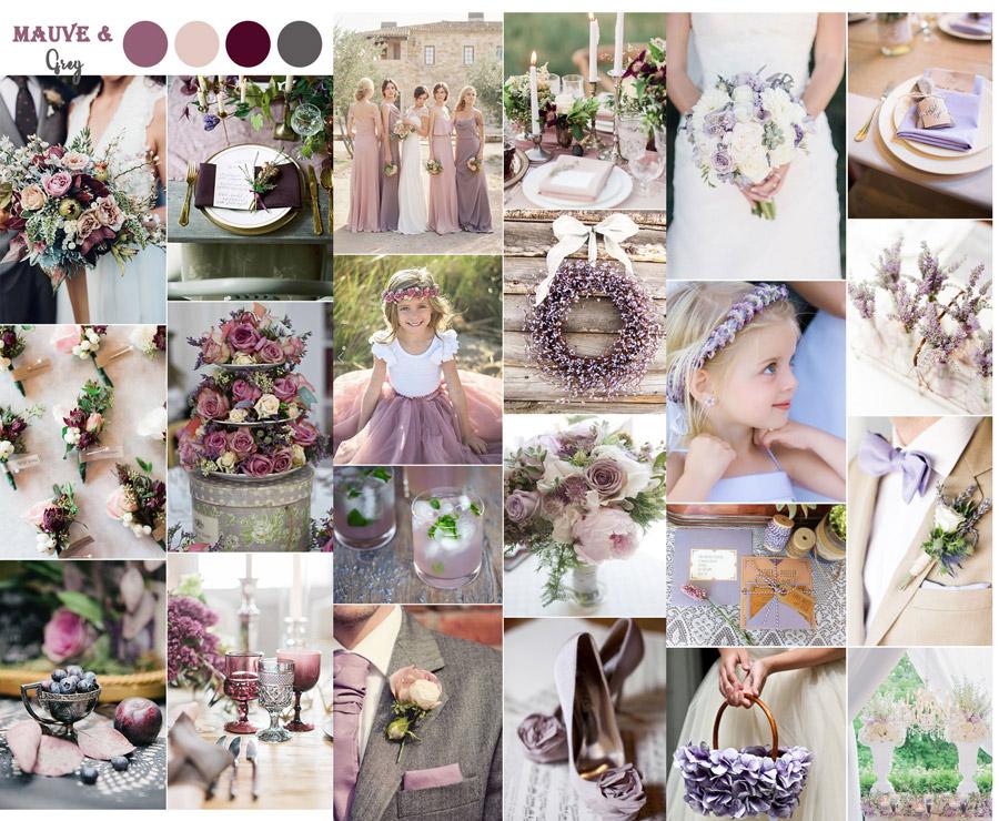 kolor przewodni wesela fioletowy, pudrowy, różowy