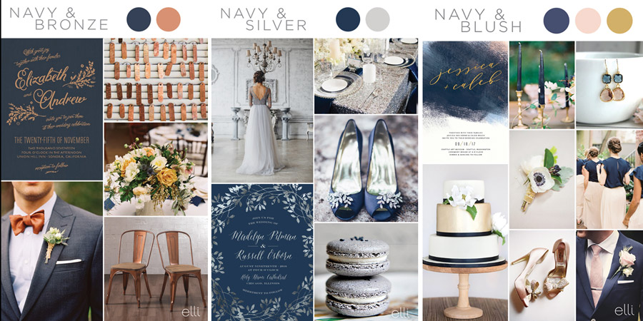 kolor przewodni wesela niebieski srebro szary