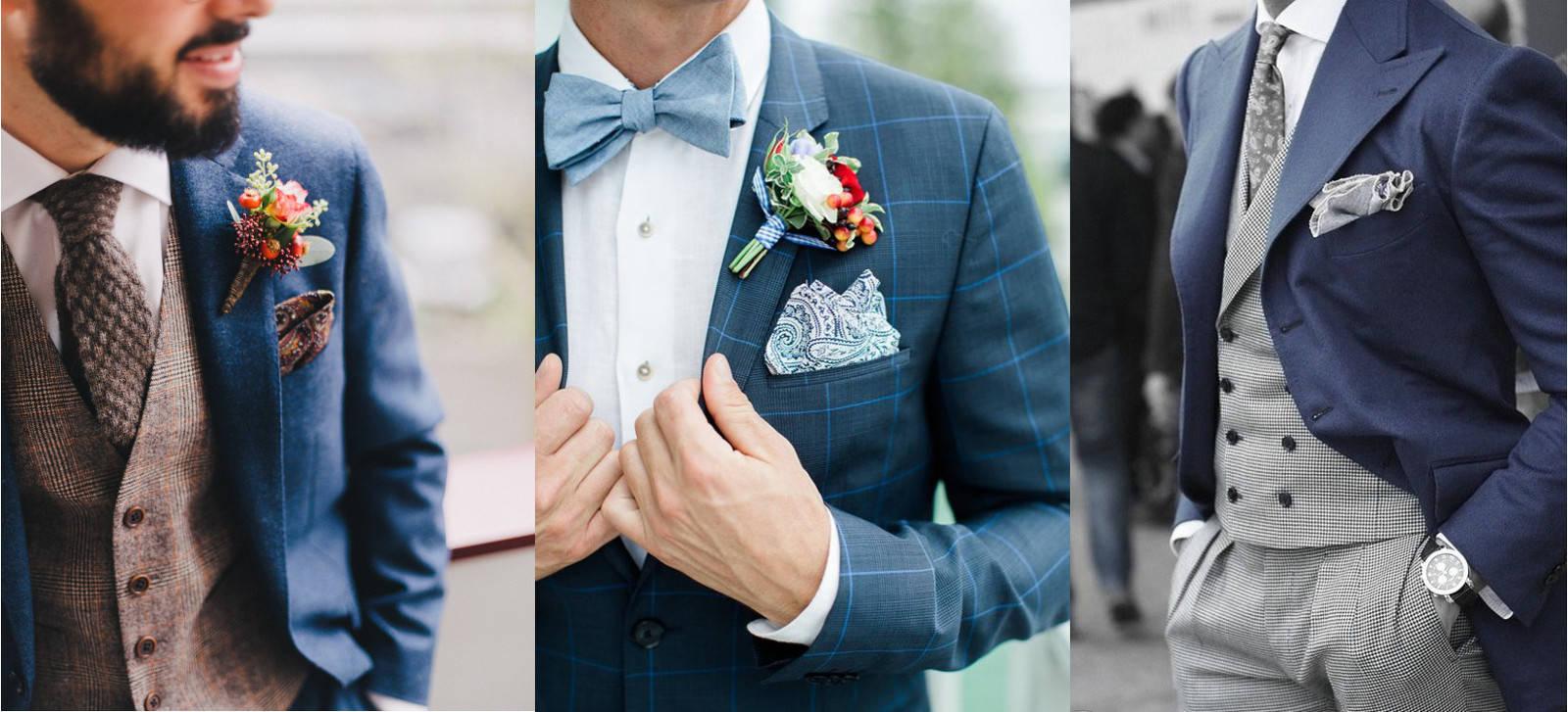 modne garnitury ślubny dwukolorowe pan młody 2019