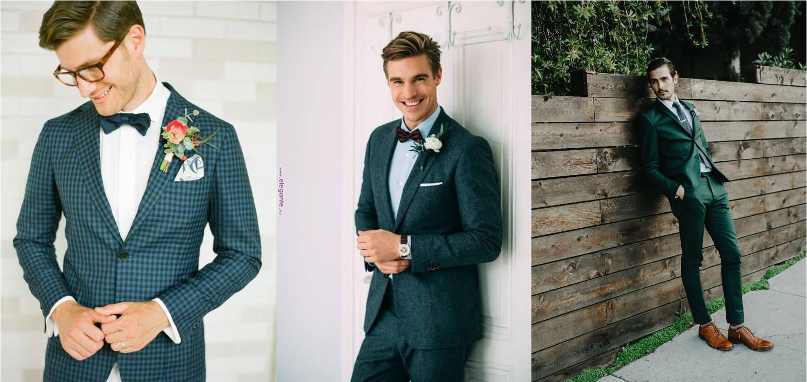 modne garnitury ślubny zielone butelkowe pan młody 2019