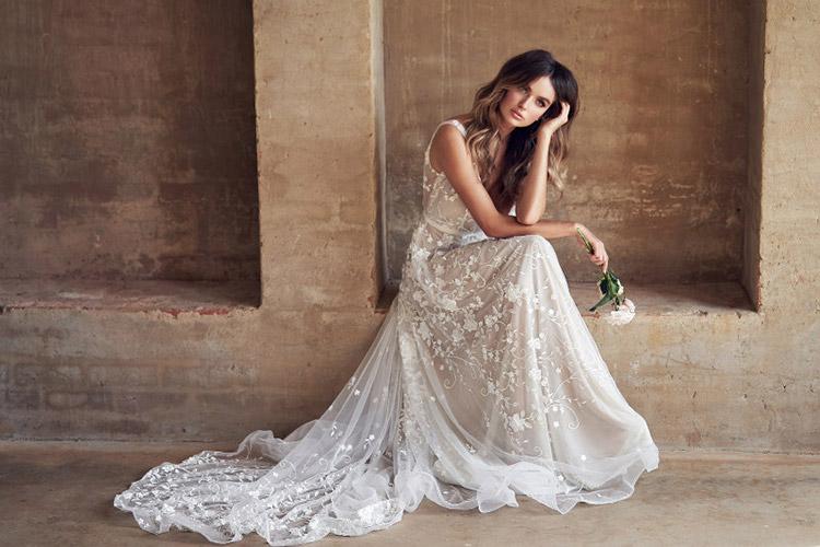 modne suknie ślubne boho 2019