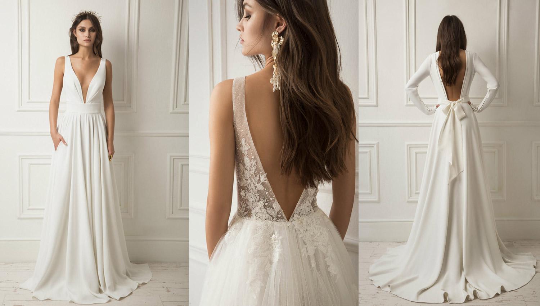 modne suknie ślubne z kokradami