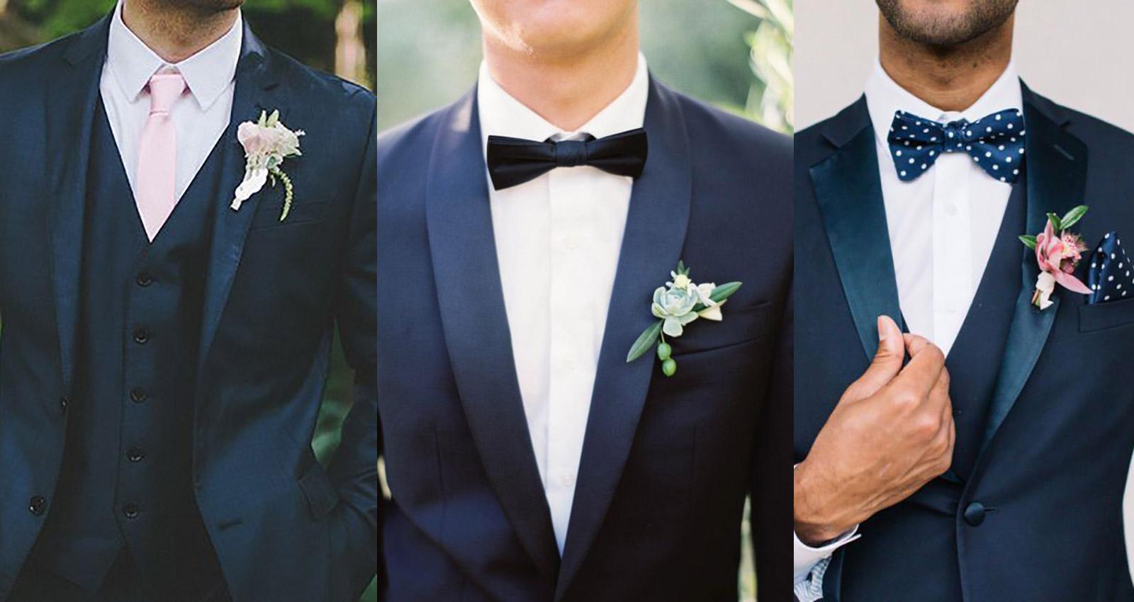 niebieskie granatowe garnitury ślubne 2019